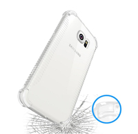 TPU PC hybrid shockproof transparent case cover for samsung galaxy s7