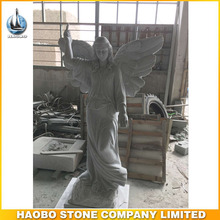 Custom Life-size Large White Marble Angel Statues Price