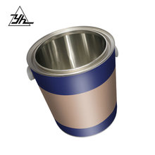 customized adhesive 2.8 liter round tin bucket metal can for paint ink oil coating