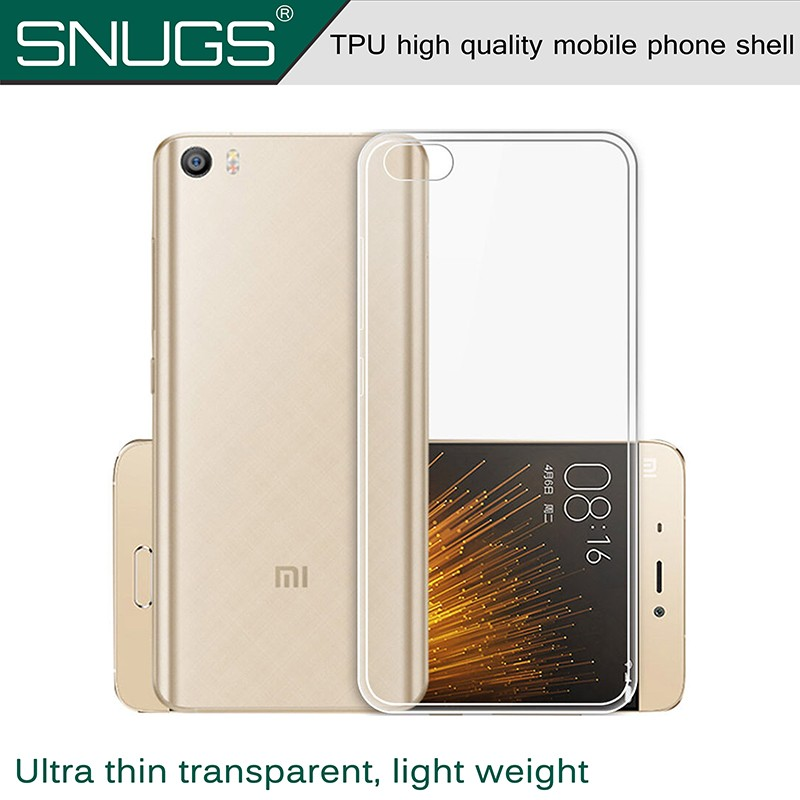 Transparent Clear Case for xiaomi 5 Soft Silica Gel TPU Case Silicone Cover Ultra Thin Mobile Phone Case