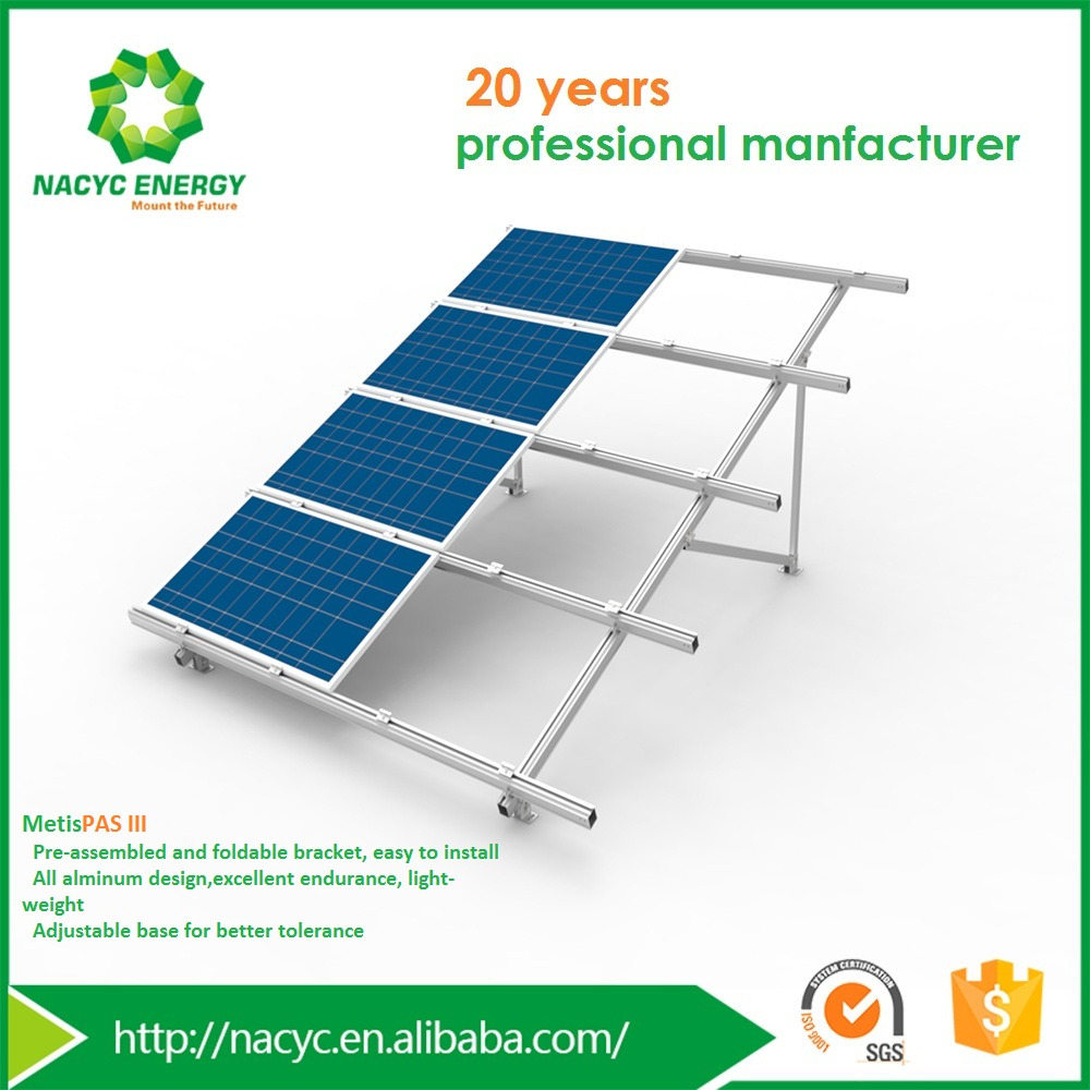 Pre-assembled Aluminum Cost-saving Ground Mounted Solar Panel System