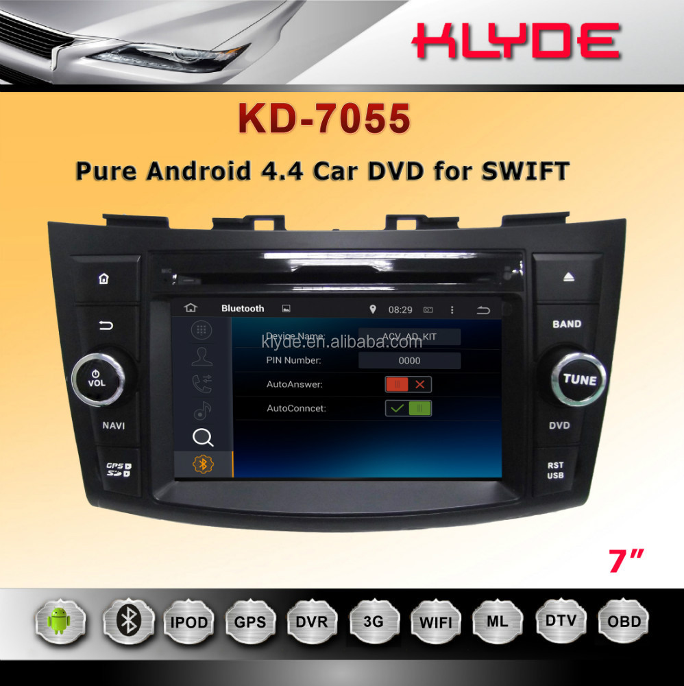 KLYDE android 4.4.2 2012 Swift Car DVD Player,AutoRadio,Multimedia mirror link