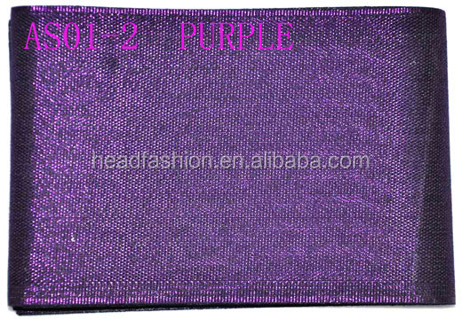 purple hair accessories manufacturers in china african gele aso oke headtie with beads for women hair tie