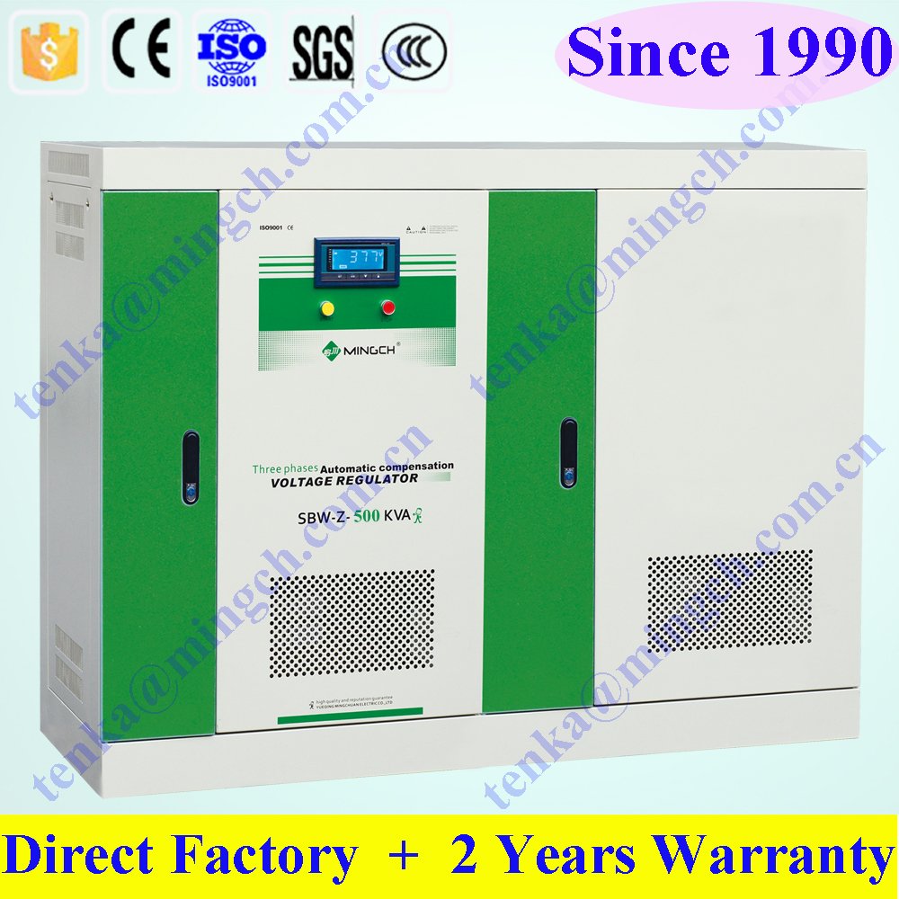 SBW-Z-500 KVA 3 phase compensated electrical voltage stabilizer