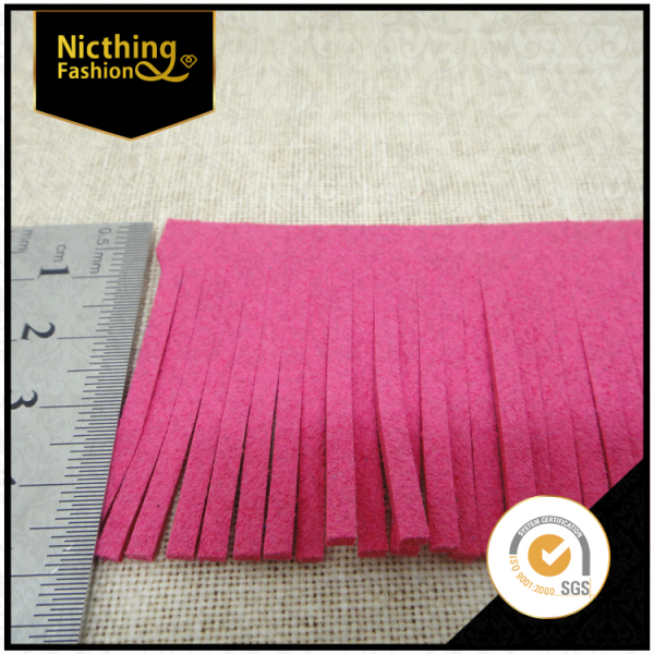 Pink color curtain tassel various colours of rayon decorative curtain tassel fringe NTF026