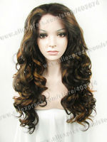 Forever Young Wigs Body Wavy Blonde Mix Brown Synthetic lace front wig