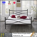 metal double bed with powder coating