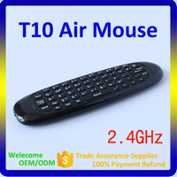 2015 Hot Selling T10 3 in 1 Combo 2.4G Air Mouse Remote Control with Gyroscope