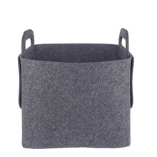 high quality OEM felt colorful gift felt storage basket with handle