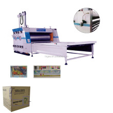 China 3 colors flexo printing corrugated cardboard box making machine for pizza