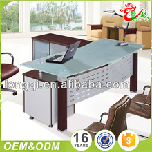 New design wholesale price office furniture executive desk l shaped modern glass office desk