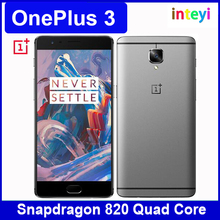 Original 5.5 inch OnePlus 3 Snapdragon 820 Quad Core 6GB RAM 64GB ROM Gorilla Glass 4 FHD Android 6.0 NFC 16.0MP Smart Phone