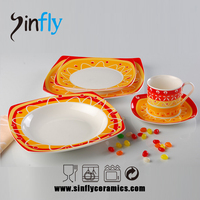 2015 Hot selling china tableware ceramic vajilla for Euro-market