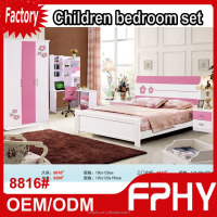 Wholesales factory 88 series 8816# MDF Wooden Modern kids bedroom set