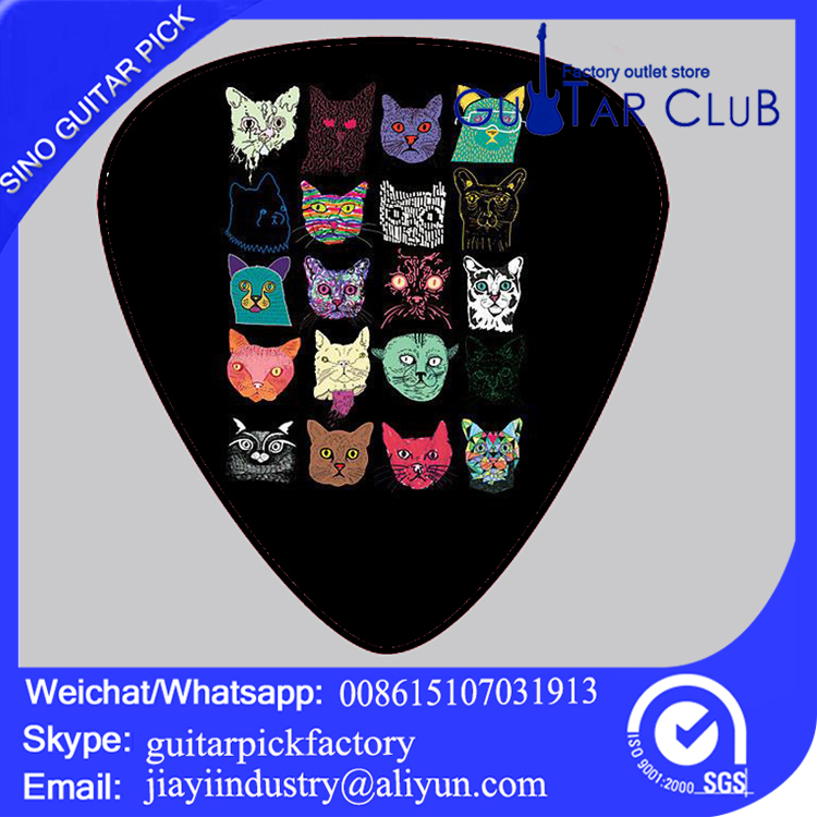 Custom model color and shape custom bracelet guitar picks