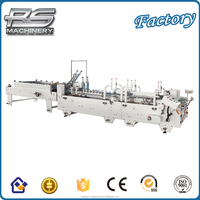 High speed Full Automatic Pre-fold&Box lock bottom Gluer Folder Box Pasting Machine (CE ISO)