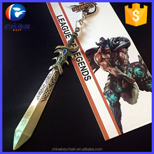New arrival metal weapon keychains hot online game league of legends keychain