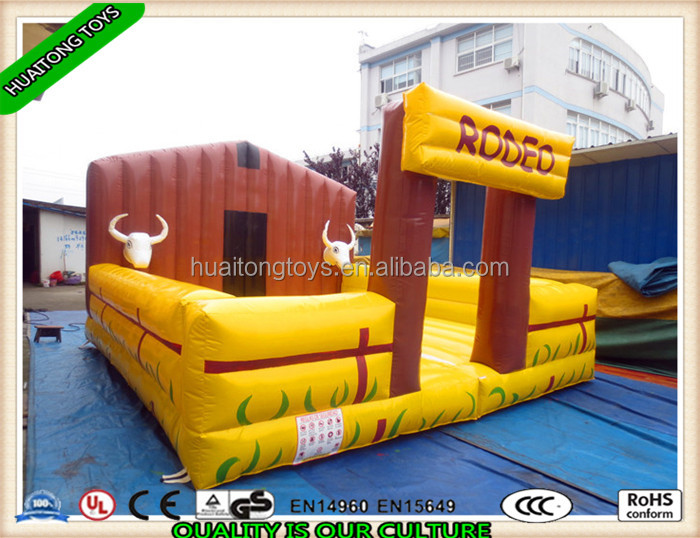 Hot sale Interactive sport game Rodeo Bull With Inflatable Mattress in amusement park for kids and adults playing
