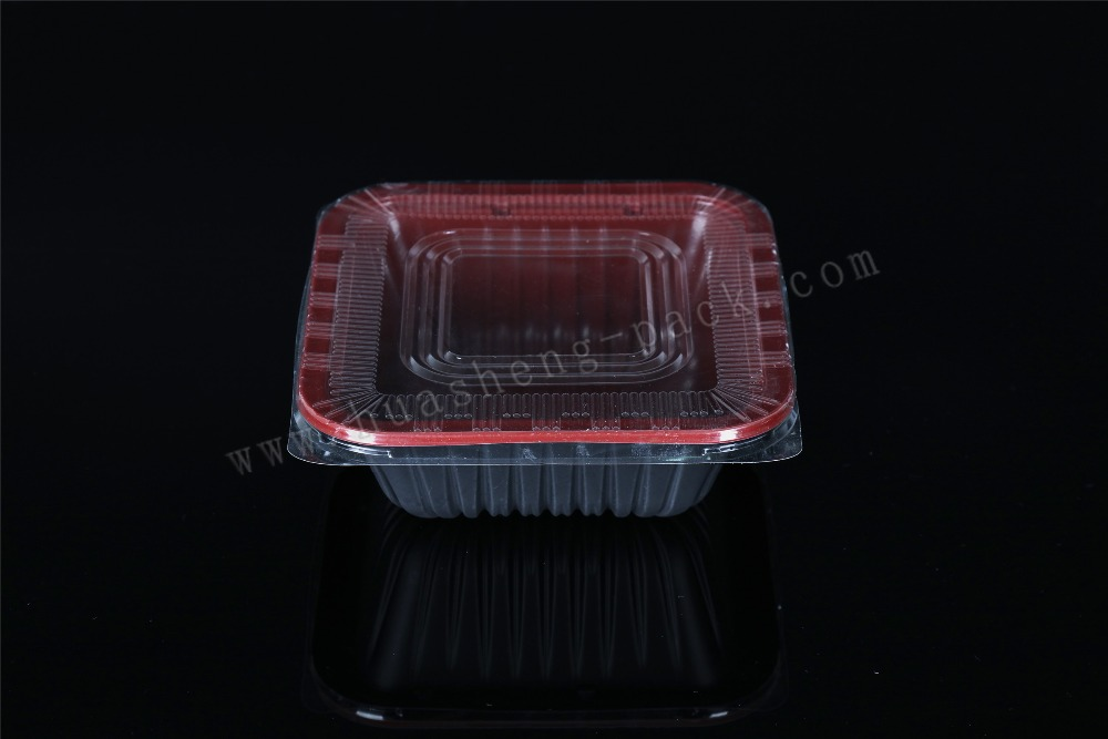 double wall PP material tableware lidded disposable lunch box with lid