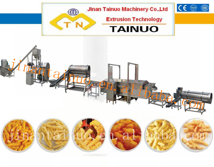 Kurkure/Cheetos/Nik Naks/Corn Chips making extruder machine