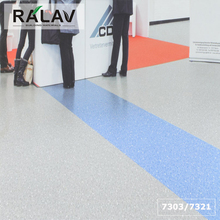 UV Coated Glitter vinyl flooring Ralav Commercial PVC Roll Flooring Homogeneous Flooring
