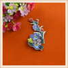 latest colorful floral embroidery patch/custom flower embroidered patches applique for jeans/colting