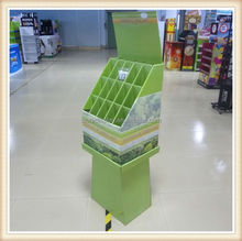 Make up tool display rack, cardboard display shelves, snack display stand