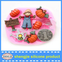 2013 newest Halloween pumpkin mold silicone DIY chocolate mould