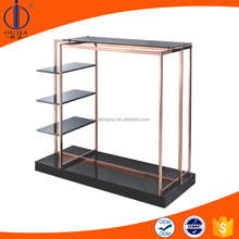 black painting hanging clothes stand/clothes shop furniture