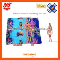 Bottom of the ocean voile sarong voile scarf
