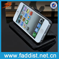 Real Leather Case Skin Flip Cover Pouch Wallet for iphone 5