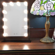 Hollywood Lighted Vanity Mirror with LED Lights Table Set Plug in Illuminated Cosmetic Mirror for Makeup Dressing