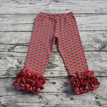 Wholesale high quality baby leggings pants pretty design girls floral ruffle leggings
