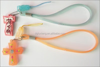 popular rubber silicone cell phone straps/popular plastic pvc mobile phone charms