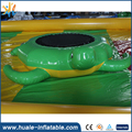 Customized floating turtle inflatable water trampoline for warer park