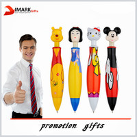 promotion cartoon Shape Ballpoint Pen with movie figure topper