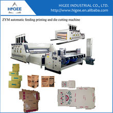 Auto feeding printing and slotting machine Corrugated cardboard carton box making machine