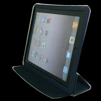 iPad 2 Smart Cover Slim Magnetic PU Leather Case Wake/ Sleep Stand Multi-Color(Black))