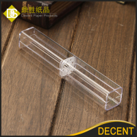 YIWU DECENT Wholesale Transparent Clear Plastic Single Pen Boxes Case