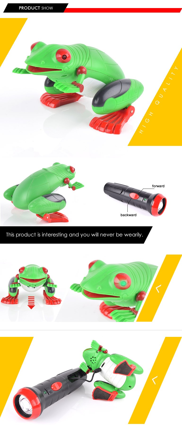 new innovative products 2 channel small r/c animal plastic frogs with ROHS certificates