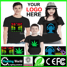 Good quality led t-shirt,Equalizer LED Tshirt