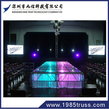 Glass stage for wedding/pool/decoration and design on sale