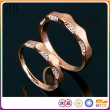 2-Years Repair Promise 18K Rose Gold Turkish Diamond Wedding Rings Set For Couple