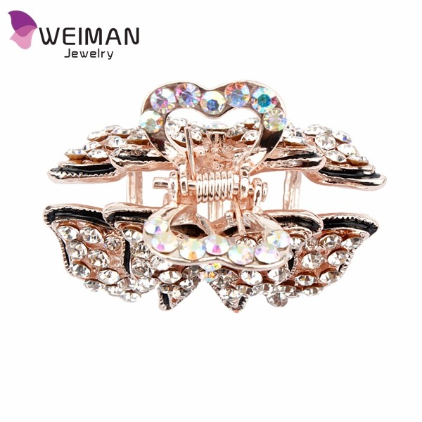 Elegant Hair Claw Clip Crystal Hairpin Barrette New Hair Band Accessories for Women Girls Lady