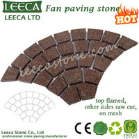 G666 red laying granite outdoor paving stone