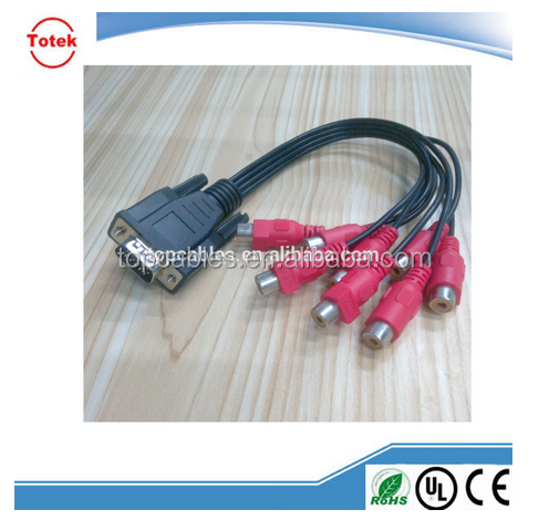 RCA/BNC Cable to VGA Cable + USB With ROHS