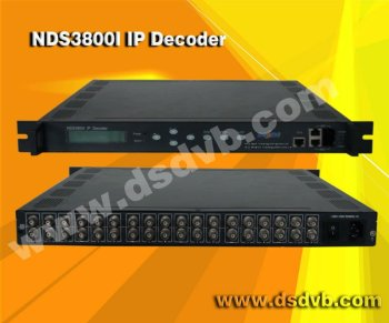 ( 12 ip to 12 A/V) mpeg-2 digital IP decoder