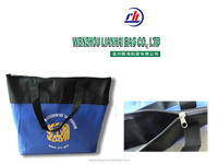 eco-friend custom design nonwoven cloth zipper bags