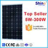cheap lower price 100w monocrystal pv solar panel/solar module with CE ROHS