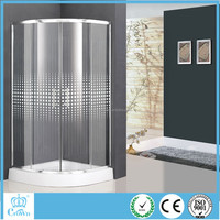 China Luxury ABS Tray Tempered Free Standing Glass Shower Enclosure